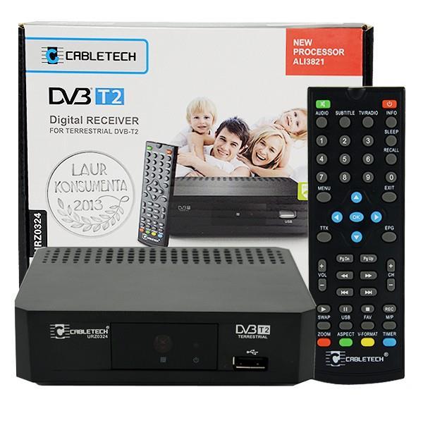 CABLETECH DIGITAL TUNER DVB-T2 HD USB uztvērējs