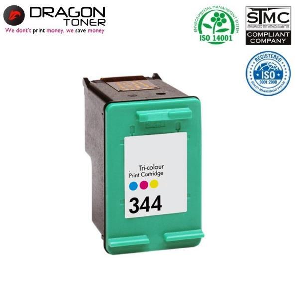 Dragon HP 344 C9363EE 3-Krāsu XL Tintes Kārtridžs 21ml priekš DeskJet 5940 460c uc HQ Premium Analogs aksesuārs mobilajiem telefoniem