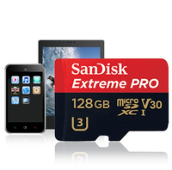 Sandisk Extreme PRO microSDXC 128GB 95/90 MB/s  U3 V30 UHS-I MOBILE atmiņas karte