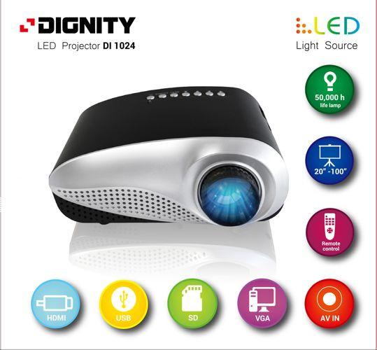 Dignity Di1024 DVB-T, LED, HVGA (480x320), 60 lumen projektors