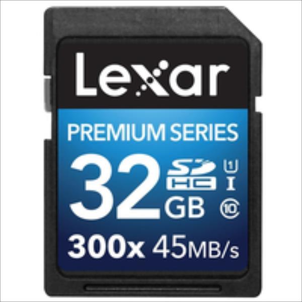 Lexar 32GB SDHC 300X PREMIUM II C10  LSD32GBBEU300 atmiņas karte