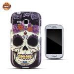 Zooky Gumijots telefona apvalks ar Skulls Art Dizainu Samsung i8190 Galaxy S3 Mini maciņš, apvalks mobilajam telefonam