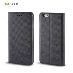 Forever Magnēstikas Fiksācijas Sāniski atverams maks bez klipša Samsung J100H Galaxy J1 Melns maciņš, apvalks