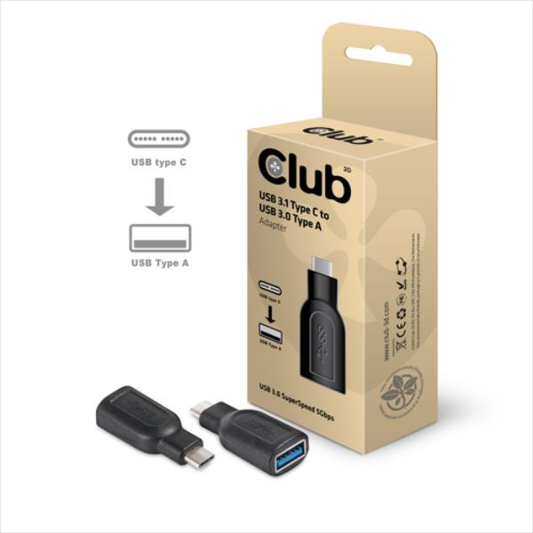 CLUB3D USB3.1 TYPE C > USB3.0 ADAPTER adapteris