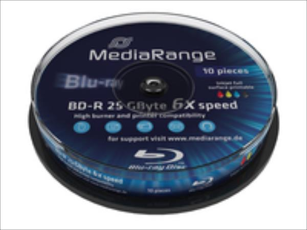 MediaRange BD-R, 6x, 25GB, 10pc matricas