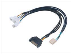 Akasa FLEXA FP3S 3 cooler, 30cm kabelis, vads