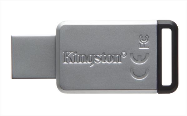 Kingston 128GB USB 3.0 DataTraveler 50 (Metal/Black) USB Flash atmiņa