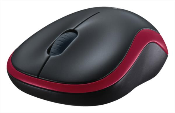 Logitech Wireless Mouse M185, RED Datora pele
