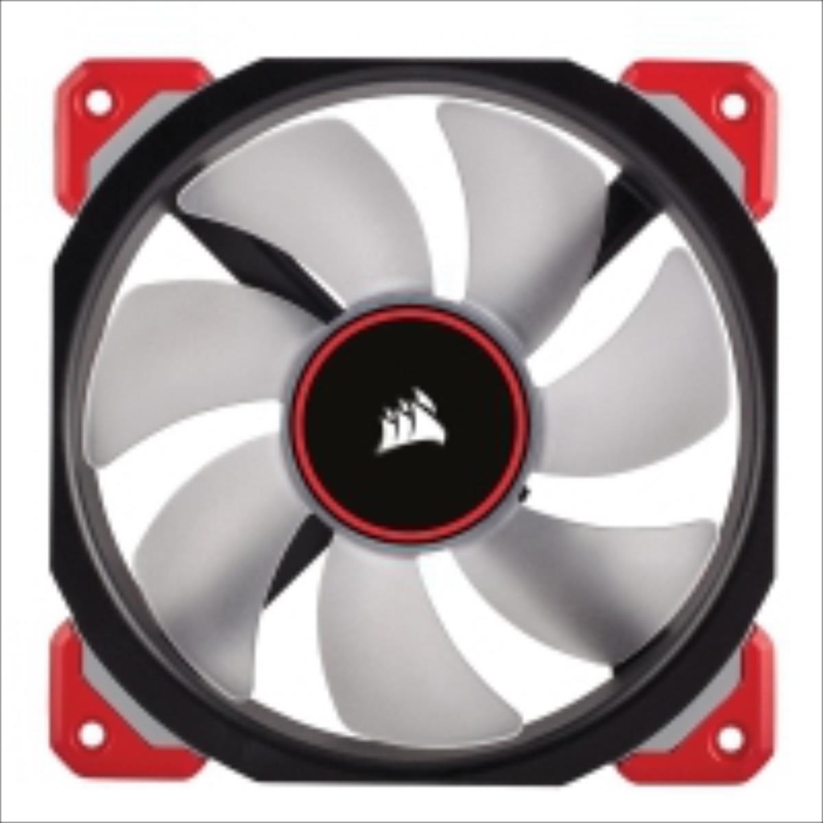 Corsair Air Series ML120 Magnetic Levitation Fan, LED red, 120mm dzesētājs, ventilators