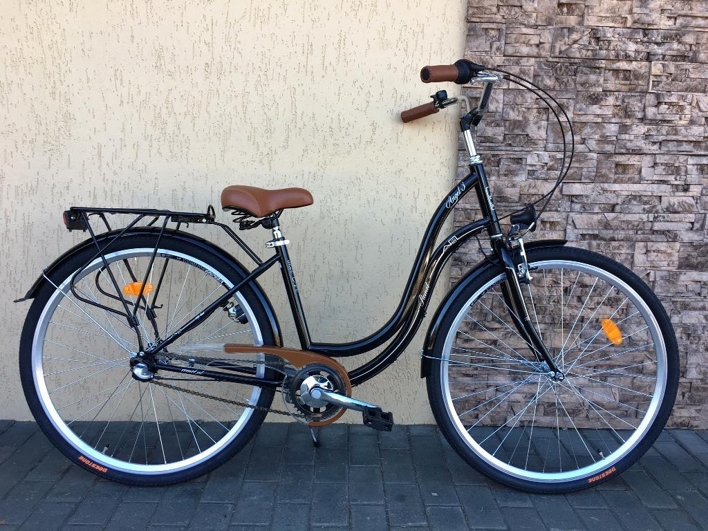 ROMET ANGEL 26 - 3 CITY 17-M R26 Melns Pilsētas velosipēds