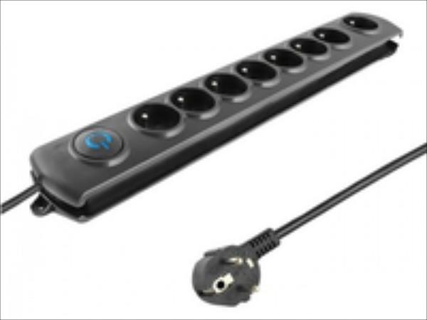 Surge protector QOLTEC | 8 power socket | 1.8m elektrības pagarinātājs