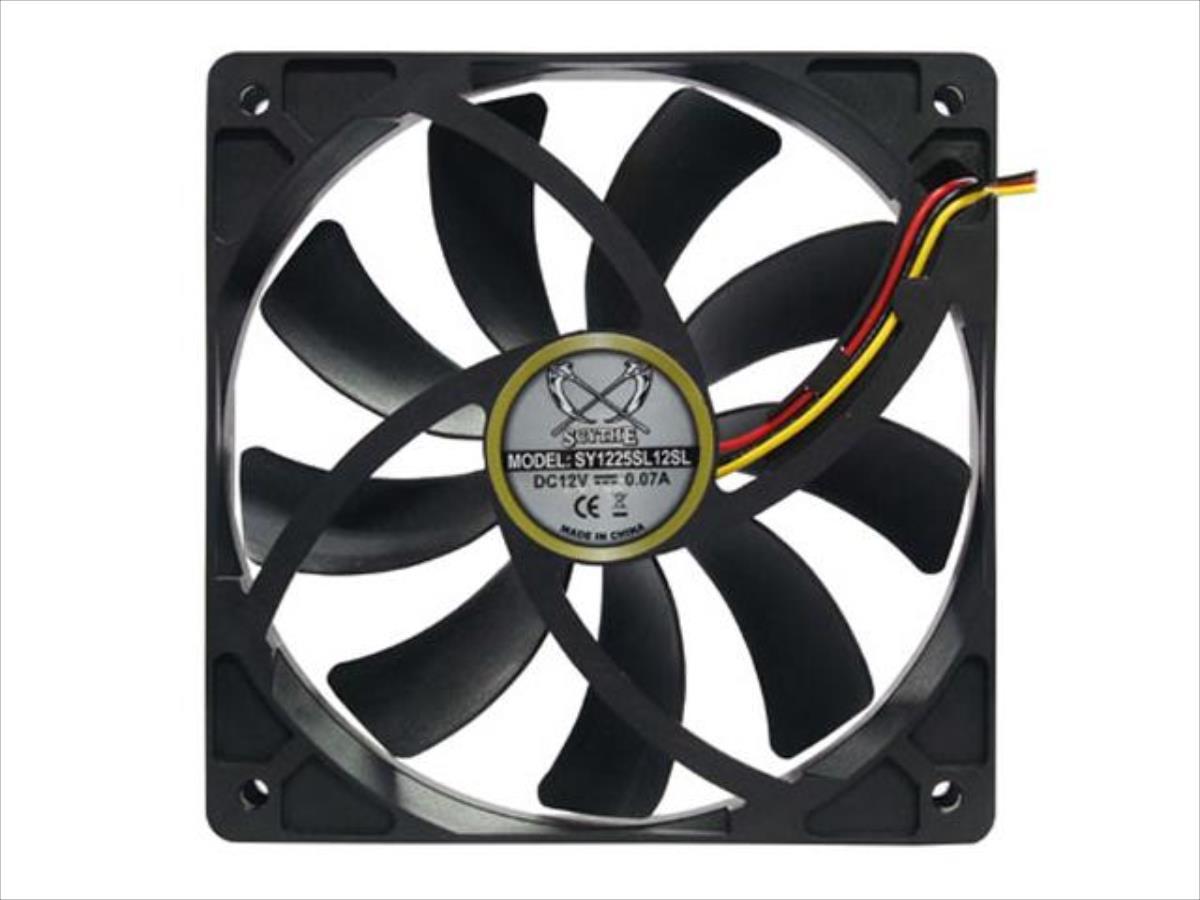 Scythe Slip Stream 120mm fan 500rpm dzesētājs, ventilators