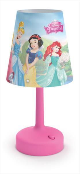 Philips Disney LED galda lampa Princess, rozā 717962816 apgaismes ķermenis