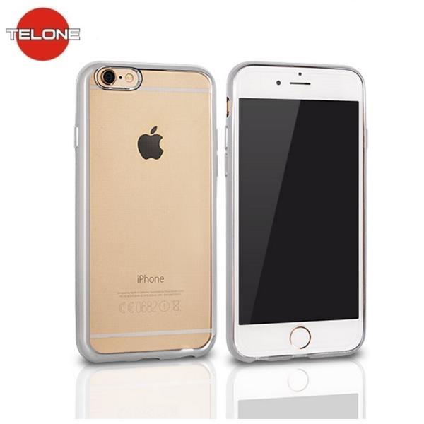 Telone Super Plāns Caurspīdīgs Silikona Aizmugures Apvalks Apple iPhone 5 5S 5SE ar Sudraba krāsas rāmīti aksesuārs mobilajiem telefoniem