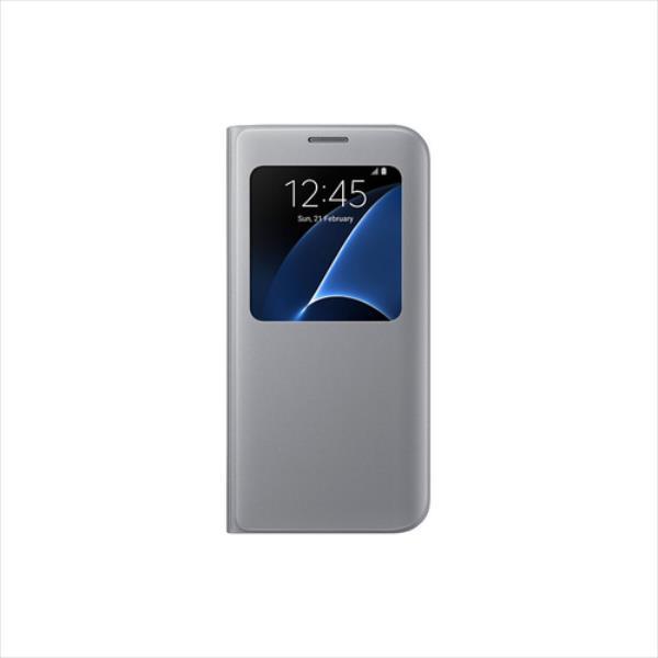 Samsung S View Cover    Galaxy S7 Edge Silver maciņš, apvalks mobilajam telefonam