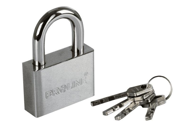 Proline Piekaram slēdzene 50mm 4 atslēgas
