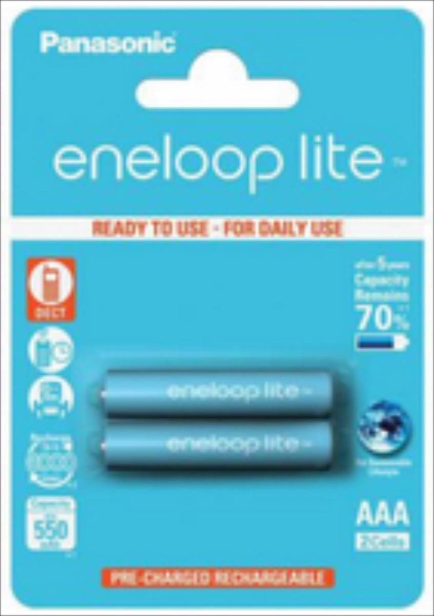 Panasonic Eneloop Lite R03/AAA 550mAh, 2 Pcs, Blister Baterija