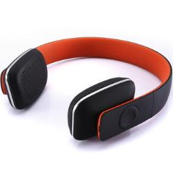 Microlab T-2 Wireless Headset with Phone Function/ Black/Orange / 3 Input Modes - 3.5mm, USB, Bluetooth 4.0/ Rechargeable Battery austiņas