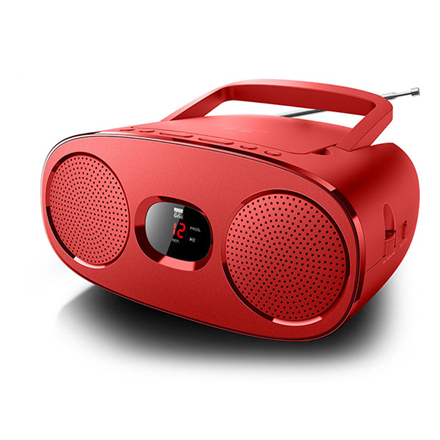 Muse RD306R Red, Portable radio CD player, magnetola