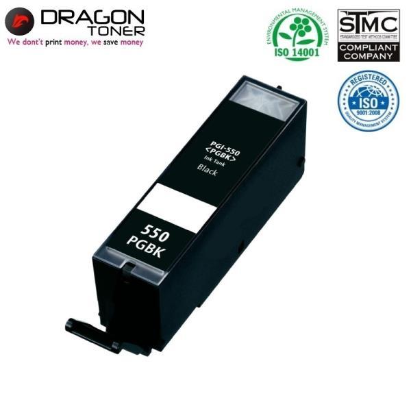 Dragon Canon PGI-550PGBK Melns Tintes Kārtridžs 23ml priekš Pixma Pixma ip7250 uc. 6496B001 HQ Premium Analogs kārtridžs