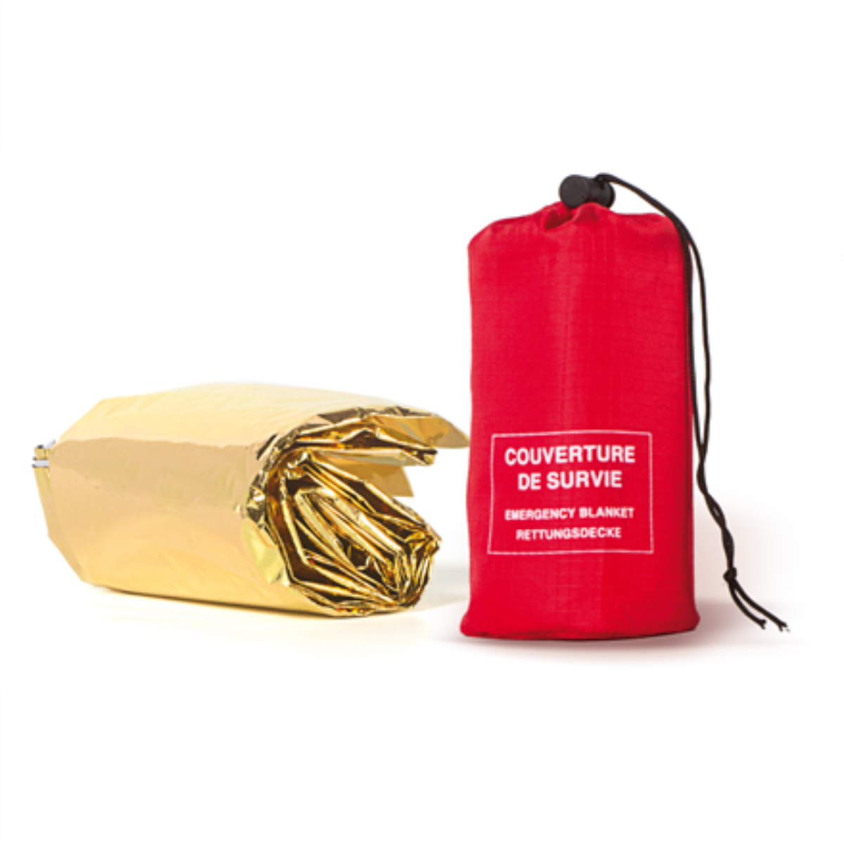 Frendo Gold/Silver Survival Blanket, 210x130cm, with Pouch guļammaiss