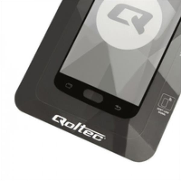 Qoltec Premium Tempered Glass Screen Protector for Samsung S7, Full cover, Black aksesuārs mobilajiem telefoniem