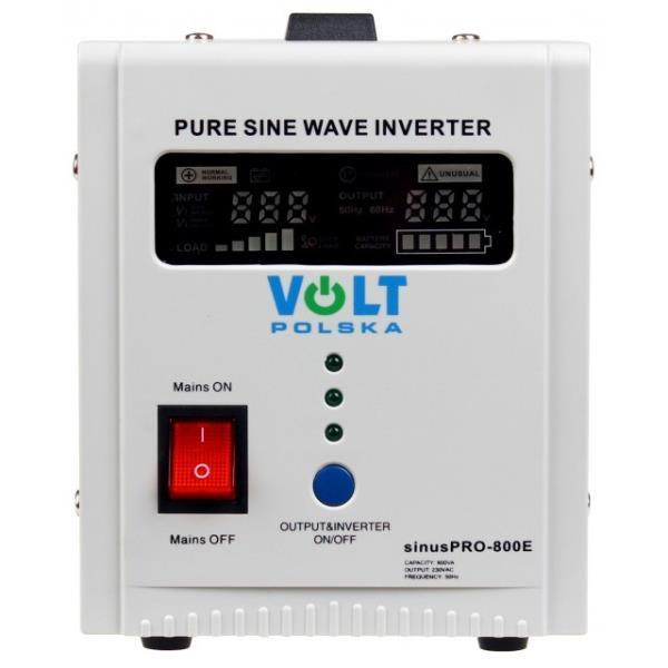 Volt Sinus Pro 800E 12/230 + UPS Strāvas pārveidotājs, Power Inverter