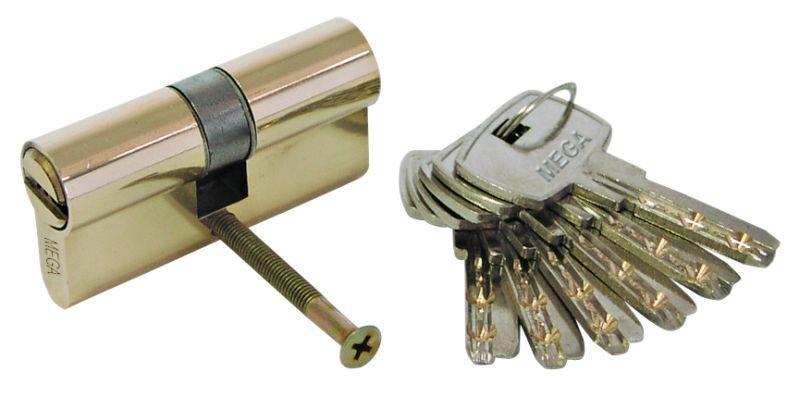 Mega Cilindrs 62mm (31/31mm) misiņa 6 atslēgas