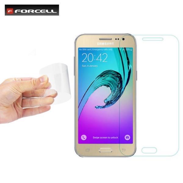 Forcell Fleksibls 0.2mm 9H Hybrid Pretskrāpju Premium klalitātes Aizsargstikls Samsung J320F Galaxy J3 (2016) aizsargplēve ekrānam mobilajiem telefoniem