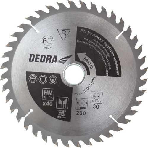 Dedra Zāģripa D315x30mm 40 zobi