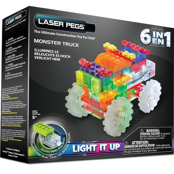 Laser Pegs 6 in 1 Monster Truck konstruktors