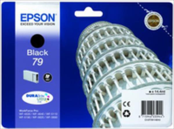 Epson Black T7911 | 14 ml | WF-5110DW/WF-5190DW/WF-5620DWF/WF-5690DWF kārtridžs