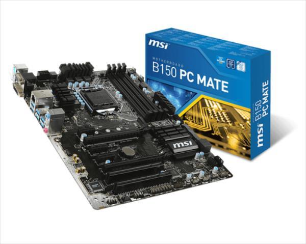 MSI B150 PC Mate   (B150,S1151,ATX,DDR4,Intel) pamatplate, mātesplate