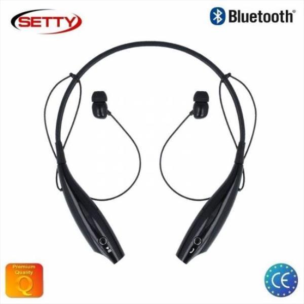 Setty BT-1 Komforta un Stila Bluetooth 4.0 Bezvadu Stereo Austiņas ar Telefona Zvana Funkciju Melnas austiņas