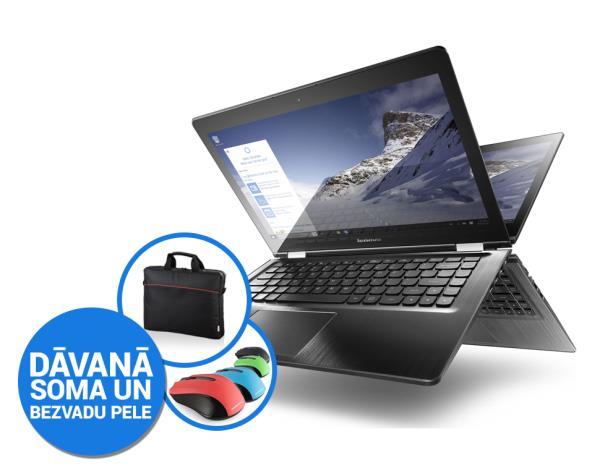 LENOVO YOGA 500-14ISK FHD Touch/i5-6200U/8GB/500GB+8GB SSHD/Win10 Portatīvais dators
