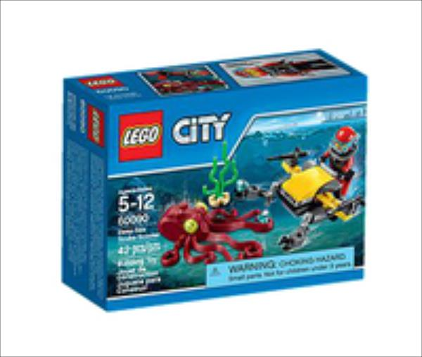 LEGO City Deep Sea Scuba Scooter 60090 LEGO konstruktors