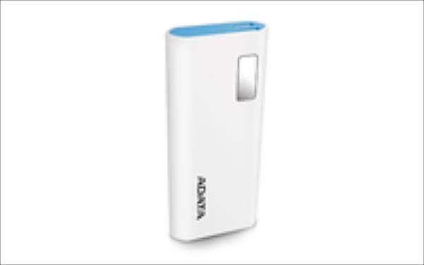 ADATA P12500D Power Bank, 12500mAh, white Powerbank, mobilā uzlādes iekārta