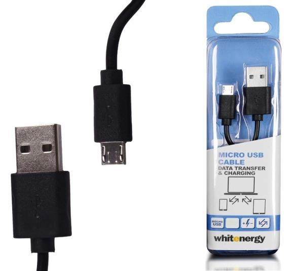 Whitenergy data and transfer Cable micro USB  2.0  30cm Black USB kabelis
