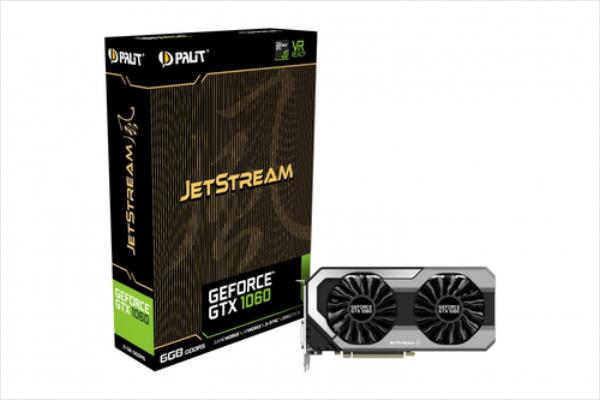 PALIT GeForce GTX 1060 JetStream, 6GB GDDR5 (192 Bit), HDMI, DVI, 3xDP video karte