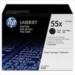 HP LaserJet 55X BLACK Doublepack toneris