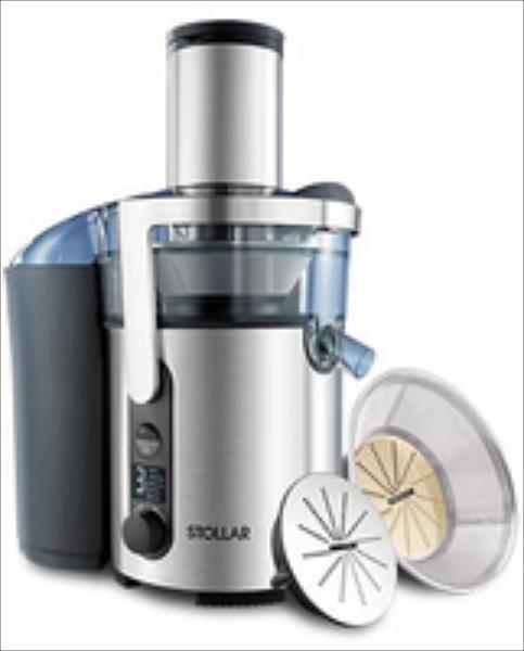 STOLLAR Juicer BJE520 1300W 1.2 L, XXL tube Stainless Steel Sulu spiede