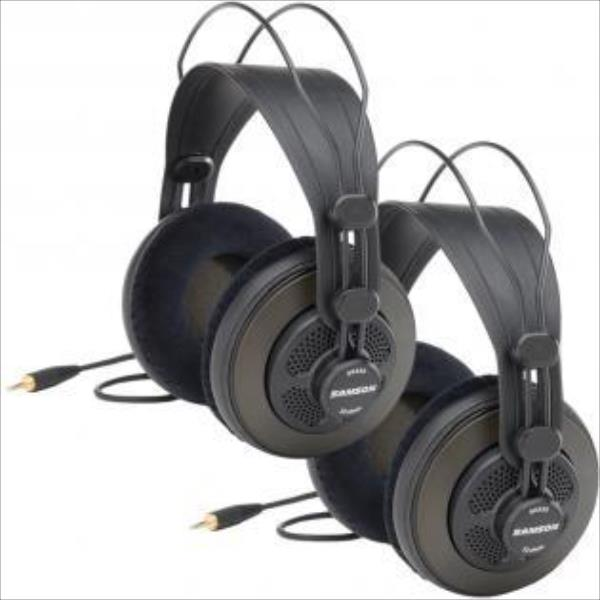 SAMSON SR850 Professional Studio Reference Headphones 2-pack | 50mm drivers austiņas