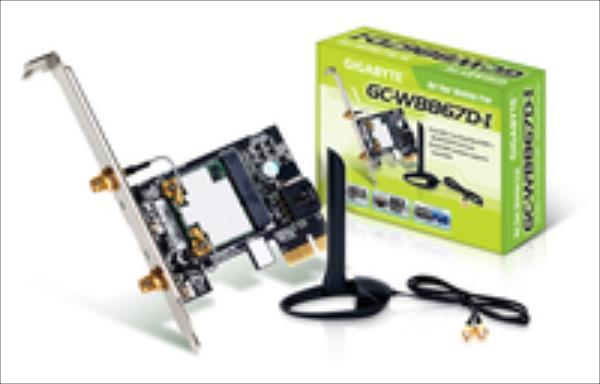 Gigabyte WB867D-I, WLAN + Bluetooth 4.0 Adapter PCIe 802.11ac PCI-E karte