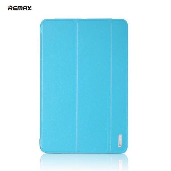 Remax Jane Smart Super Plāns Eko-Ādas Sāniski Atverams maks ar Multi Statīv un  Auto On-Off Apple iPad Mini 4 Zils planšetdatora soma