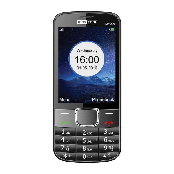 MaxCom MM320  melns - black Mobilais Telefons