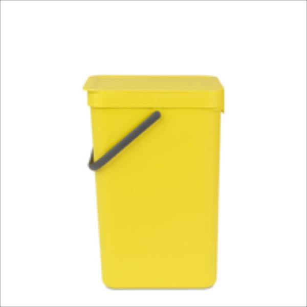 BRABANTIA atkritumu tvertne Sort & Go, 12 l, yellow 109768 atkritumu tvertne