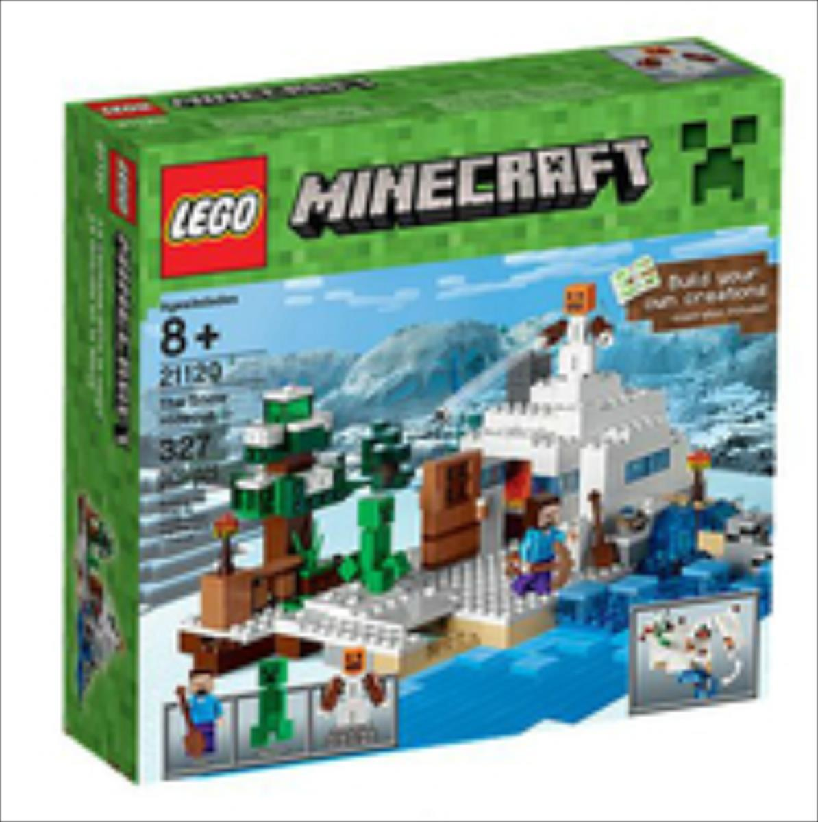 Lego Minecraft The Snow hideout 21120 LEGO konstruktors