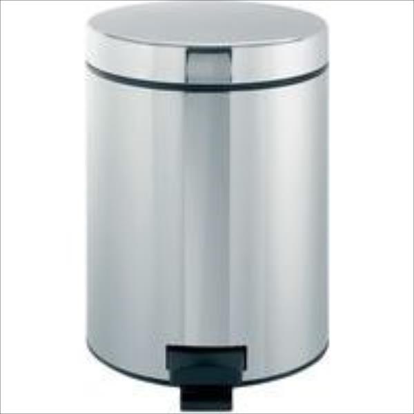 BRABANTIA atkritumu tvertne ar pedāli NewIcon, 3 l, Brilliant Steel 113147 atkritumu tvertne