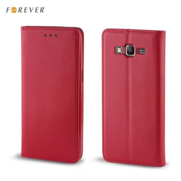 Forever Magnēstikas Fiksācijas Sāniski atverams maks bez klipša Samsung J320F Galaxy J3 Sarkans aksesuārs mobilajiem telefoniem
