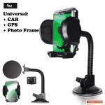 FLY S2131W-A Universal CAR holder with photo frame auto turētājs ar loga/paneļa stiprinājumu aksesuārs mobilajiem telefoniem
